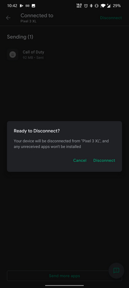 disconnect device