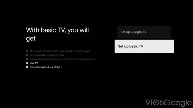 google_tv_basic_mode