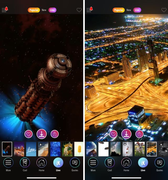 kappboom live wallpaper app for iphone and ipad