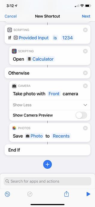 iphone uygulamalarını kilitle siri kısayolu