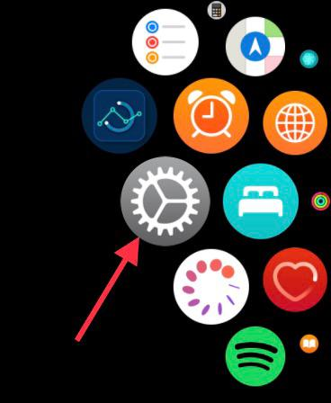 ouvrez l'application Paramètres sur Apple Watch