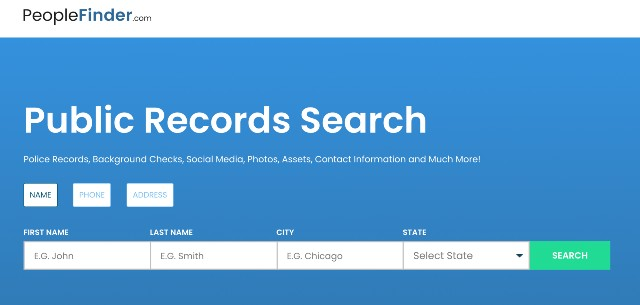 people finder public records search engine