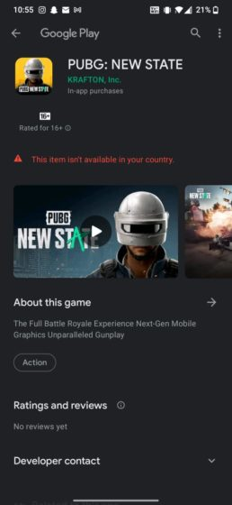 pubg new state not available for pre-register in india