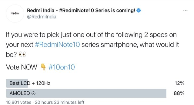 redmi note 10 series - poll deleted