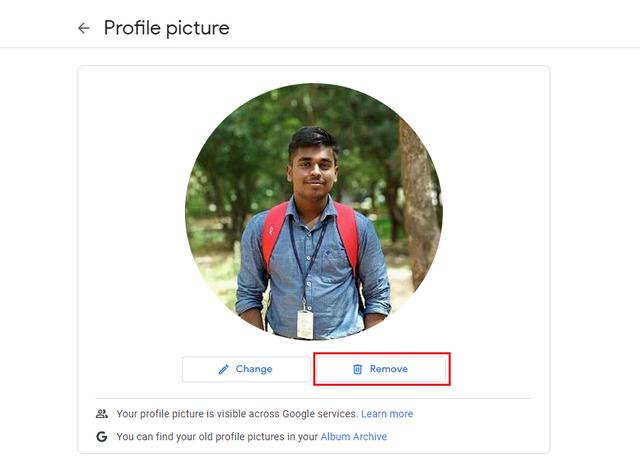 remove profile pic final step