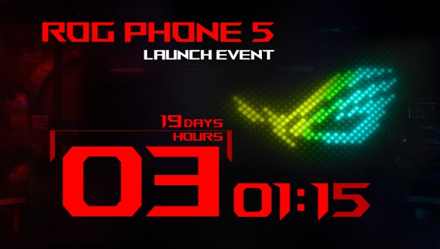 rog phone 5 launch event timer