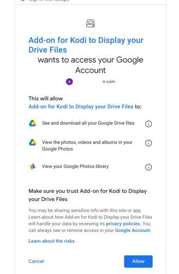 kodi'de google drive