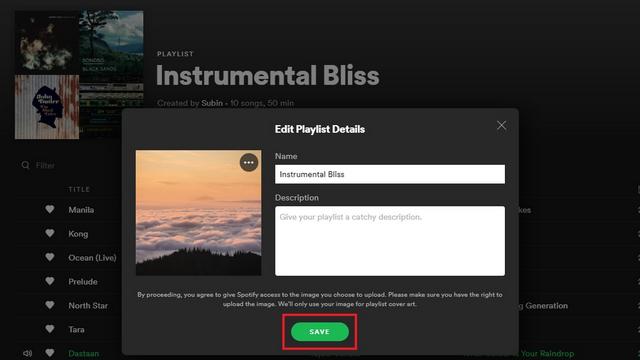 save new playlist image