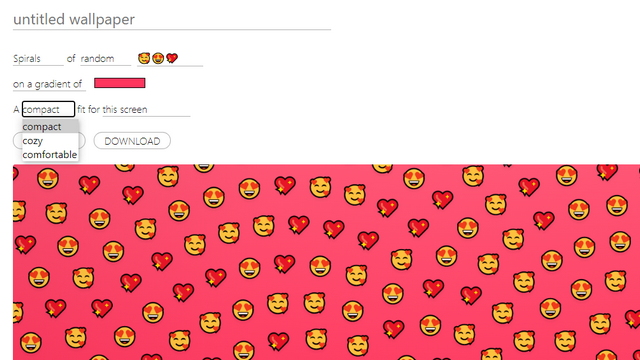 set emoji density