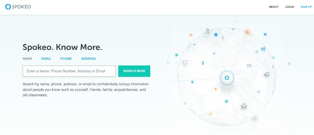 image of the spokeo homepage