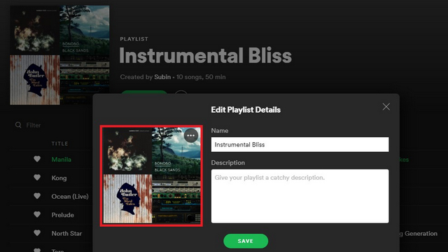 spotify playlist image