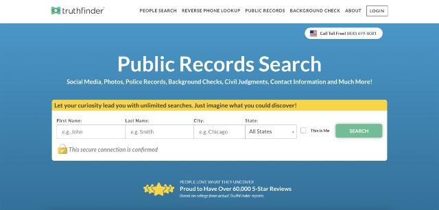 truthfinder public records search engine