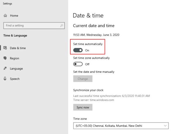 Datum und Uhrzeit ändern