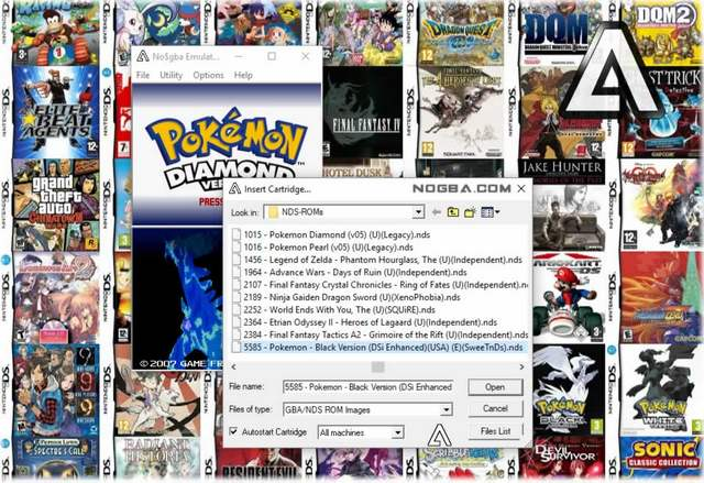 NO$GBA: best nintendo gs emulator for windows, mac and linux