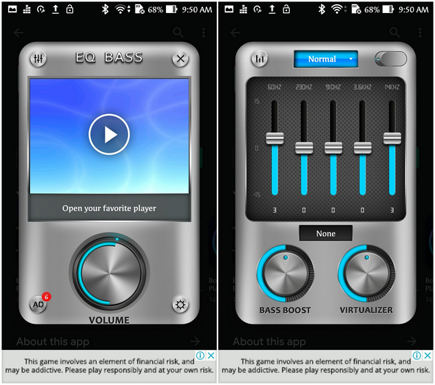 Equalizer, Bass Booster & Volume Booster EQ