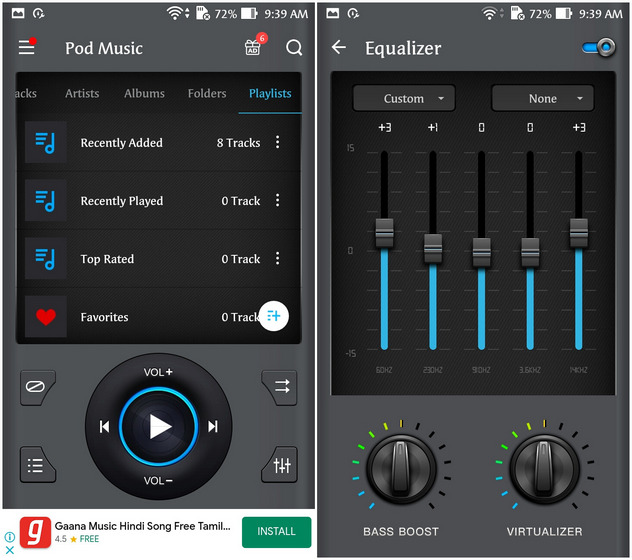 Bass Equalizer & Pod Music Player