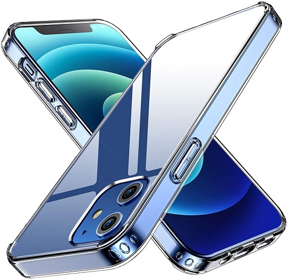 ANEMAT Crystal Clear Compatible with iPhone 12 Case, Designed for iPhone 12 Pro