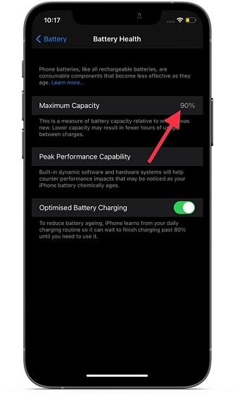 Battery health on iOS - common iOS 14 problems