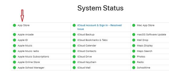 Check system status