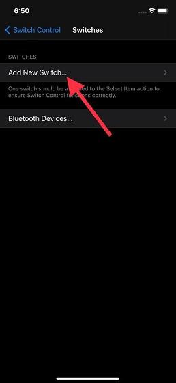 Choose Add New Switch option