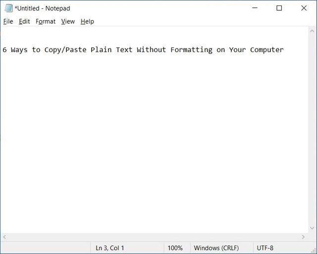 Editor Kopieren Sie einfachen Text ohne Formatierung