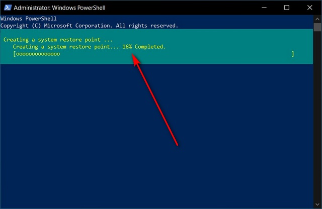 Create System Restore Point Using Windows PowerShell