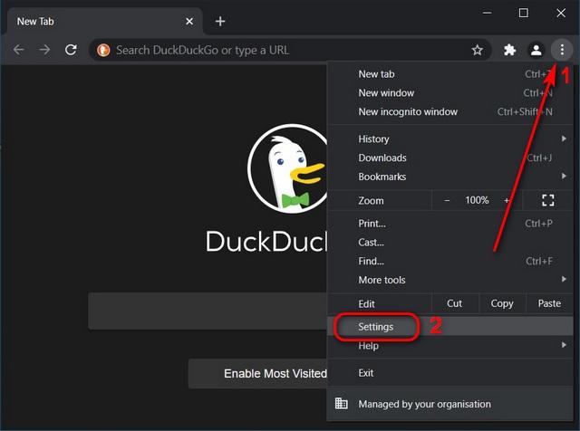 Chrome-Einstellungen Windows