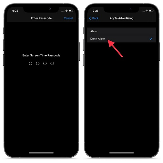 Disallow Apple Advertising on iOS and iPadOS - block Apple Ad tracking on iPhone and iPad