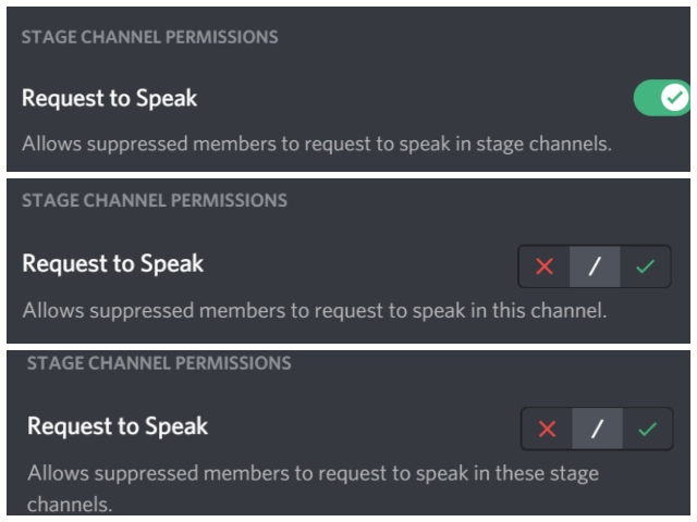 Discord stage channel feature