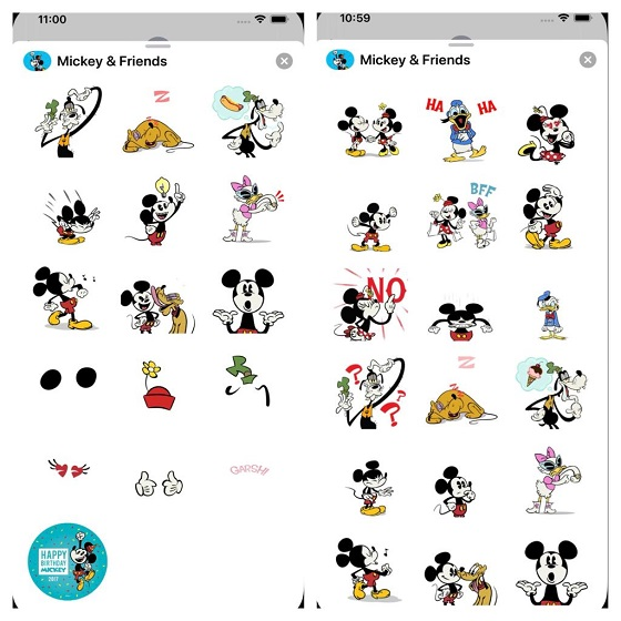 Disney Stickers Mickey