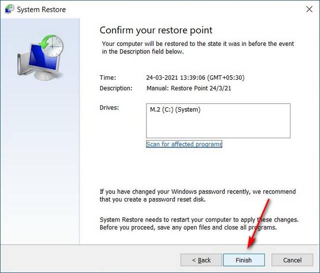 Enable and Use System Restore
