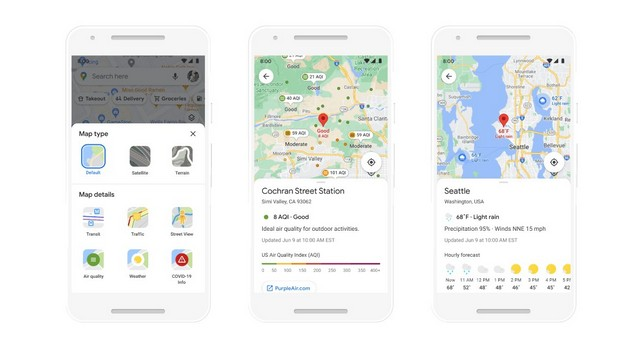 Google Maps new features