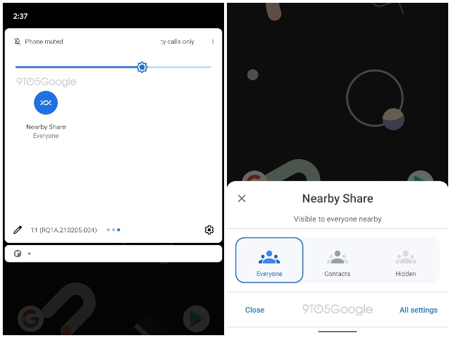 Google Nearby Share new features