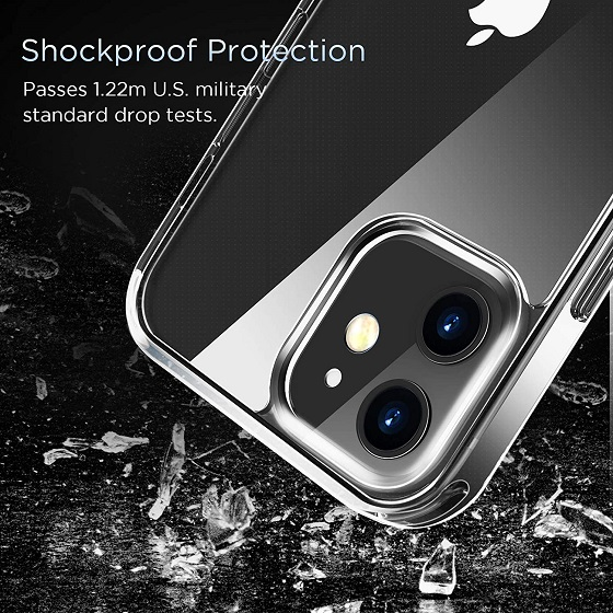 LETSCOM Crystal Clear Case Compatible with iPhone 12 & iPhone 12 Pro