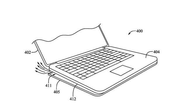 Macbook with deployable feet