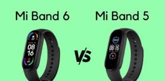Mi Band 6 vs Mi Band 5 - detailed specs comparison