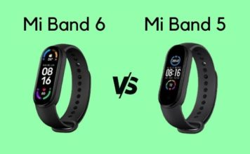 Mi Band 6 vs Mi Band 5 - detailed specs comparison