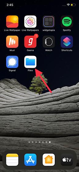 Öffnen Sie die Datei-App auf dem iPhone
