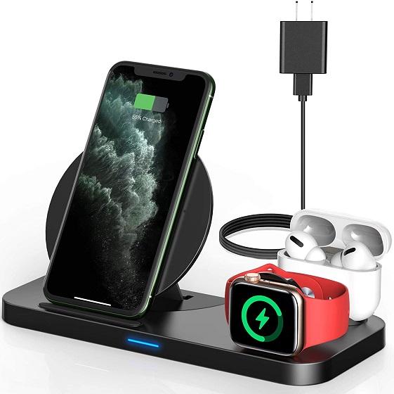 Powlaken 3 in 1 Wireless Charger,