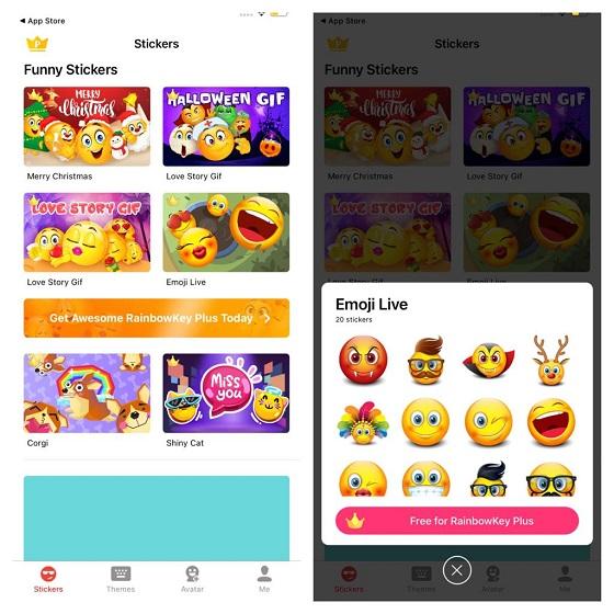 RainbowKey emoji app