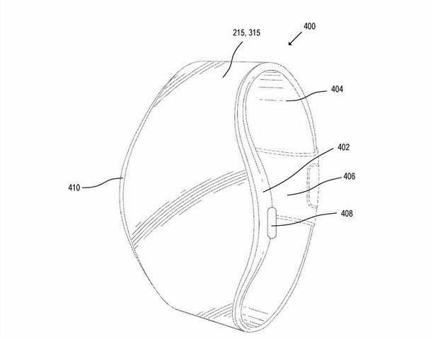 Redesigned apple watch with flexible display
