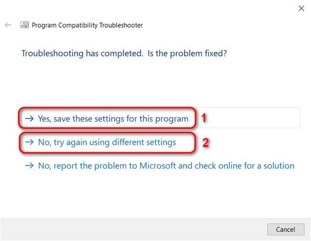 Windows 10 compatibility troubleshooter