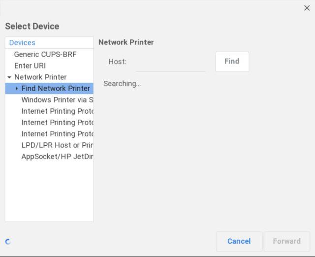 find network printer