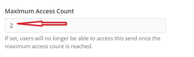 Set maximum access count