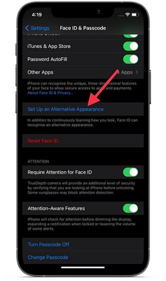 Настройте альтернативный внешний вид на iPhone