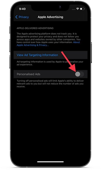 Turn off Personalized ads on iOS and iPadOS - block Apple Ad tracking on iPhone and iPad