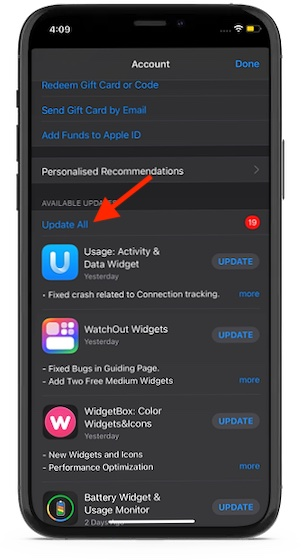 Tap-on-Update-All-option
