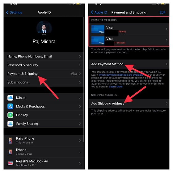 Update Apple ID on iPhone and iPhone