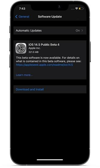 Обновите программное обеспечение на iPhone