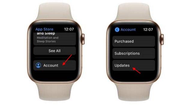 app updates - apple watch issues